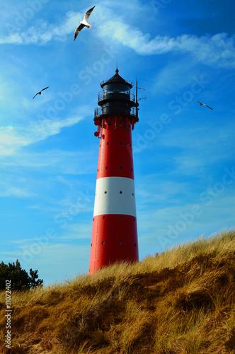 Foto-Fußmatte - Leuchtturm Hoernum (von Prio Adhi Setiawan)
