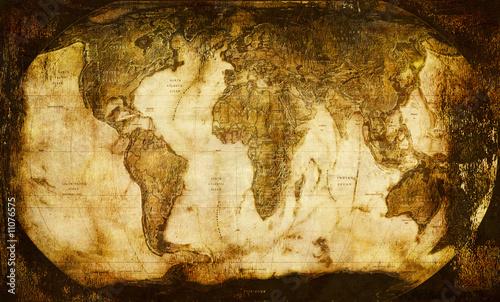 Naklejka Stara mapa świata 2