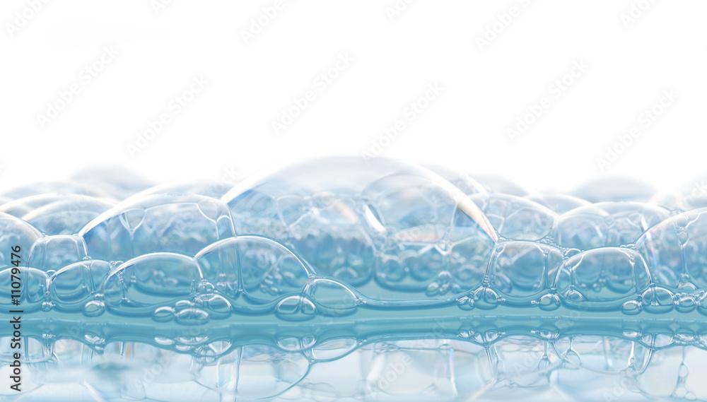 Fototapeta schiuma blu