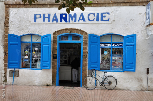 Wall Murals Pizzeria Pharmacy in Essaouria, Morocco Africa