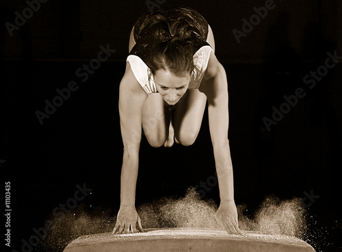 Photo sur Aluminium Gymnastique Turnen