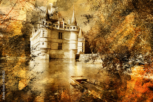 castle - artwork in painting style Poster