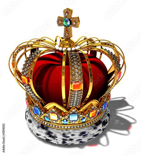 Obraz na plátne red king crown