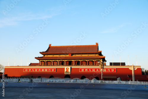 In de dag Beijing Tiananmen Gate Of Heavenly Peace in Beijing, China