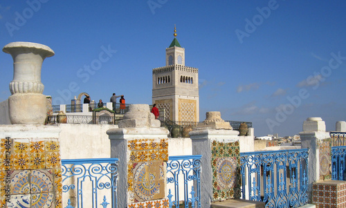 terrasse de la medina Fototapet