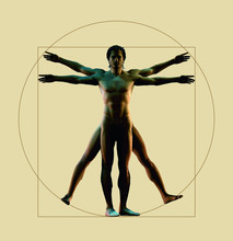Uomo Vitruvio 3d