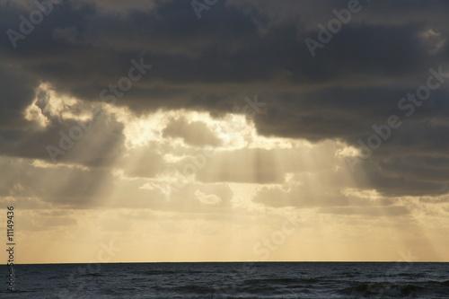 Poster Mer / Ocean Winter an der Nordsee