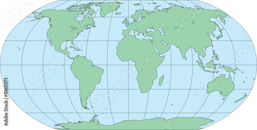 Robinson World Map Africa Centered - Vector Illustration – kaufen ...