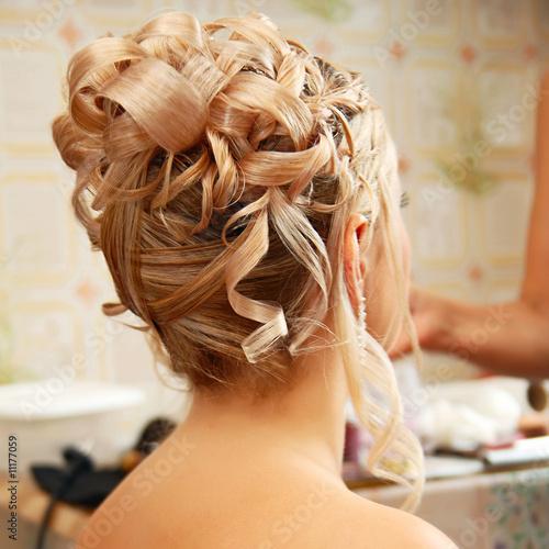 Fotografie, Obraz  Beautiful wedding hairstyle