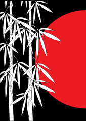 Panel Szklany Bambus Bambus Illustration