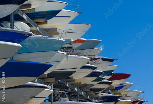 Boats on Storage Rack