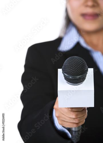Obraz Interview time - fototapety do salonu