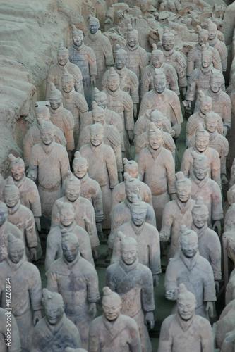 Foto op Plexiglas Xian A group of the famous Terracotta warriors in Xian - China