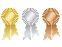 Gold,silver And Bronze Rosettes
