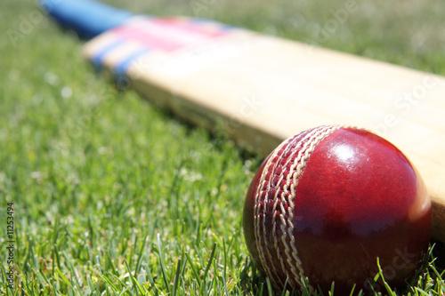 Fotografia Cricket equipment.