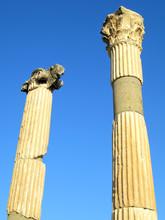 Ephesus Columns In Turkey.