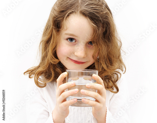 Fotografie, Obraz  child with a glass of water