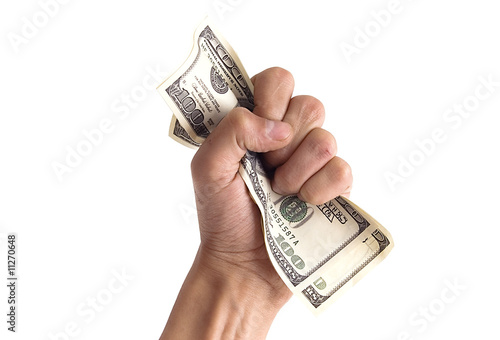 Fotomural financial concept - hand with money