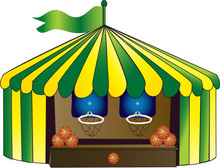 Green And Yellow Circus Tent