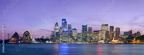 Sydney skyline as viewed across the harbour from Kirribilli