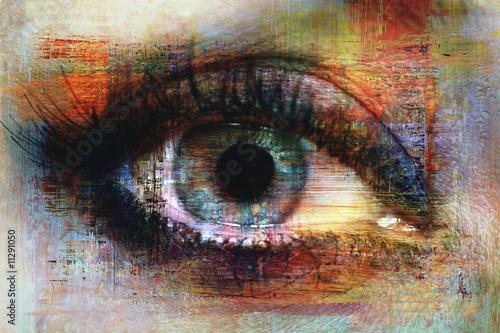 Obraz premium tekstura oka