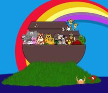 Noah's Ark Scene - A New World