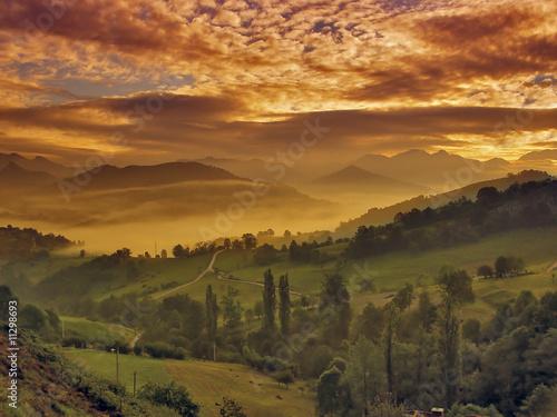 Amanecer en Asturias