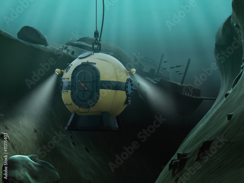 Fotografie, Obraz  Diving Bell