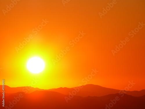 Canvas Prints Cuban Red Sun Burst
