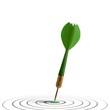 concept de marketing et publicité - atteindre sa cible