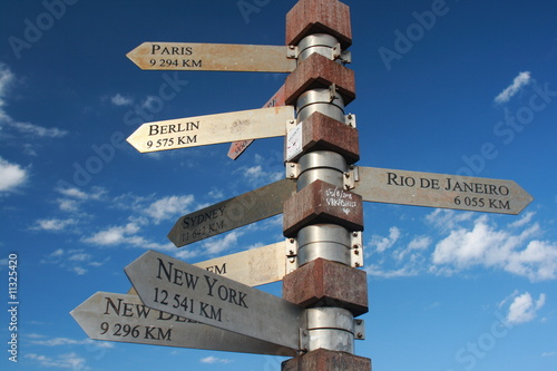 Foto-Kassettenrollo premium - Signpost to the world