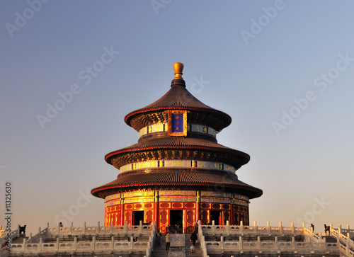 In de dag Beijing The Hall of Prayer for Good Harvests in the Temple of Heaven