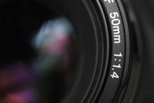 Macro Of A Part Of A Camera Lens
