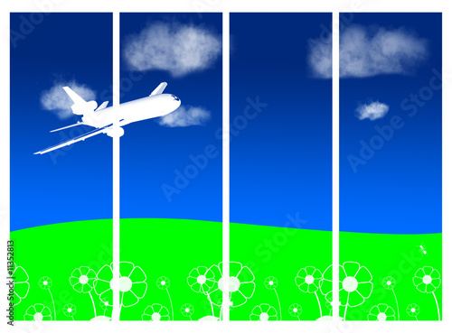 Papiers peints Avion, ballon sky and airplane