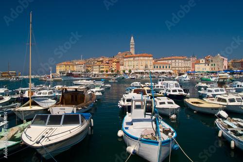 Foto auf AluDibond Schiff City Rovinj, Croatia