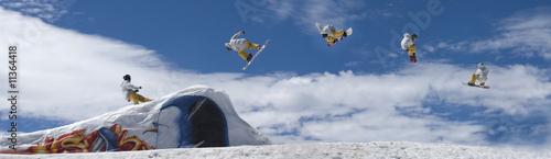 Fényképezés snowboarder freestile