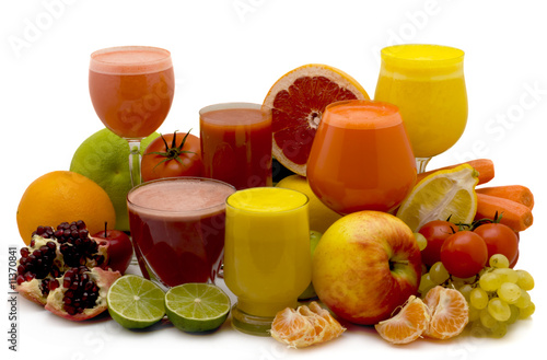 Staande foto Sap Fruit and vegetable juice