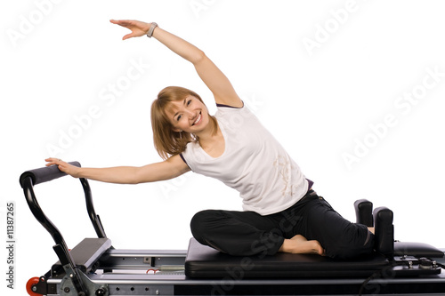 Fotografie, Obraz  A nice pilates girl