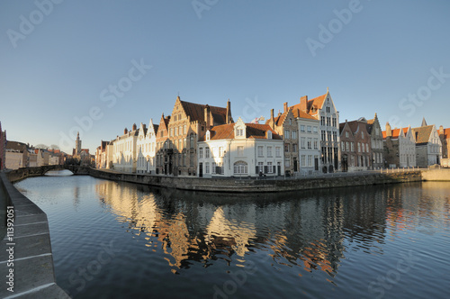 Printed kitchen splashbacks Bridges Brugge Canal Houses