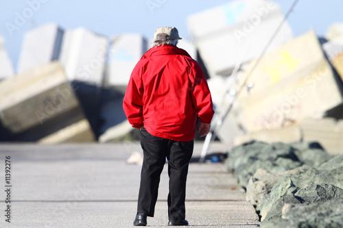 Cuadros en Lienzo homme avec une veste rouge