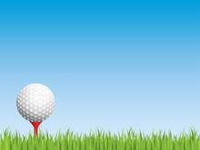 Golf Ball With Seamless Grass