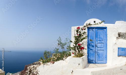 Tuinposter Santorini Door to nowhere
