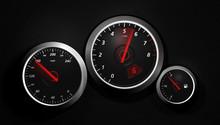Speedo - A Sports Car Instrument Panel Showing Speed.