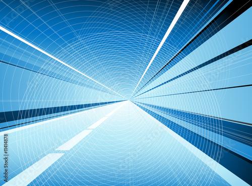 Valokuva  Blue tunnel