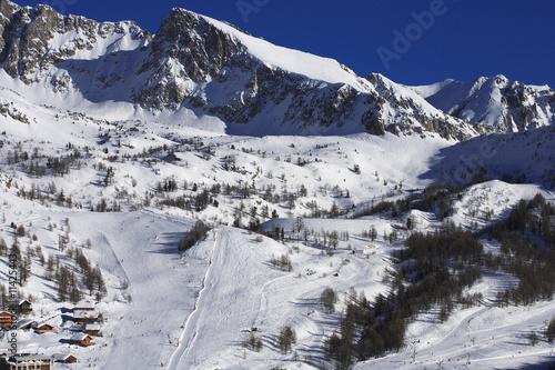Fotografie, Obraz  Station d'Isola 2000  candidate aux Jeux Olympiques d'hiver 2018