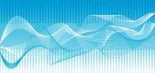 Vector Blue Waves Background