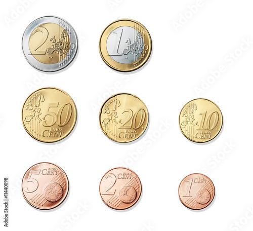 Fototapeta Monete Euro obraz