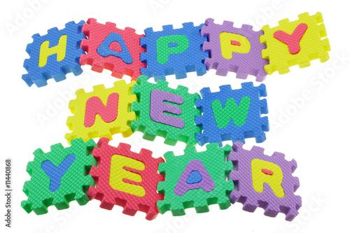Staande foto Hoogte schaal Happy New Year