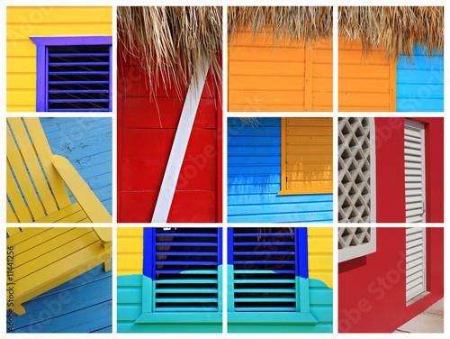 Foto op Plexiglas Caraïben Caribbean collage