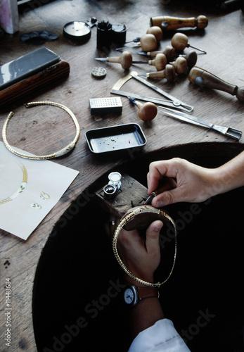 Fotografie, Obraz  travail de joaillierie en atelier